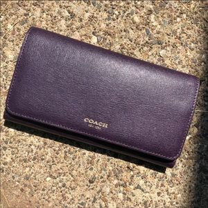 Coach trifold wallet - purple